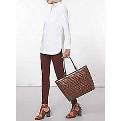 Dorothy Perkins - White longline poplin shirt