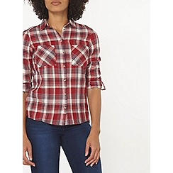 Dorothy Perkins - Autumn red check shirt