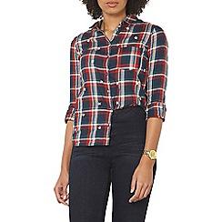 Dorothy Perkins - Star embroidered check shirt