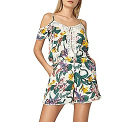 Dorothy Perkins - Ivory tropical lace playsuit