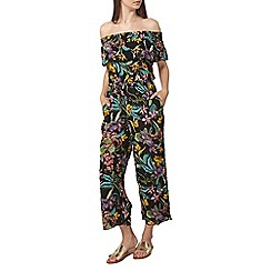 Dorothy Perkins - Tall black tropical jumpsuit