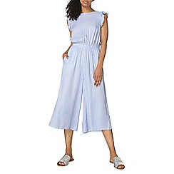 Dorothy Perkins - Blue and white striped jumpsuit