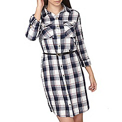 Dorothy Perkins - Tall check belted shirt dress