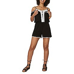 Dorothy Perkins - Contrast embroidered playsuit