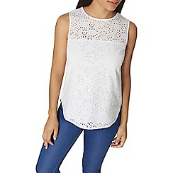 Dorothy Perkins - All over broderie shell top