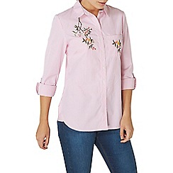 Dorothy Perkins - Pink stripe embroidered shirt