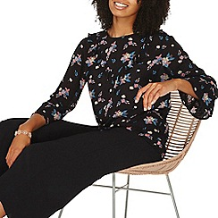 Dorothy Perkins - Multi coloured floral print v-ruffle front top