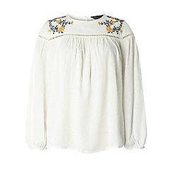 Dorothy Perkins - Ivory embroidered beaded top