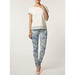 Dorothy Perkins - Tropical print eden jeggings