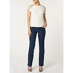 Dorothy Perkins - Mid wash straight leg jeans