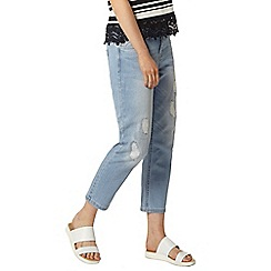 Dorothy Perkins - Bleach roll up 'riley' jeans
