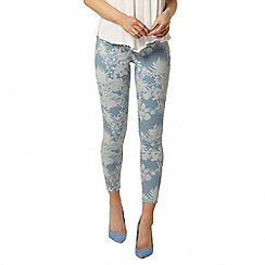 Dorothy Perkins - Bleach tropical 'Eden' capri jeggings
