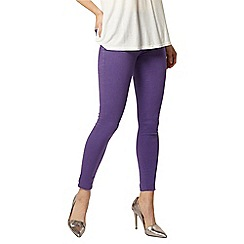 Dorothy Perkins - Purple 'eden' capri jeggings