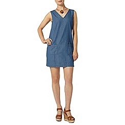 Dorothy Perkins - Light wash v neck denim tunic