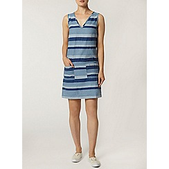 Dorothy Perkins - Striped v neck denim tunic