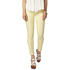 Dorothy Perkins - Pale lemon 'eden' jegging