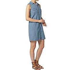 Dorothy Perkins - Lightwash sleeveless shirt dress