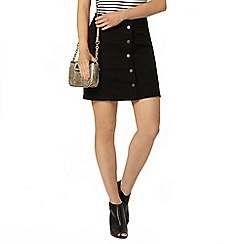 Dorothy Perkins - Black button mini skirt
