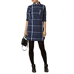 Dorothy Perkins - Check denim shirt dress