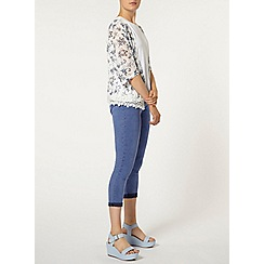 Dorothy Perkins - Pretty blue 'eden' crop jeggings