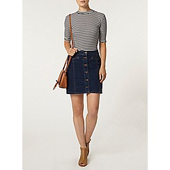 Dorothy Perkins - Midwash button mini skirt