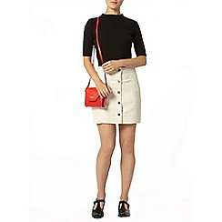 Dorothy Perkins - Ecru denim button mini skirt
