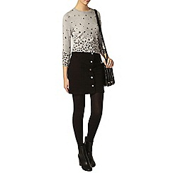 Dorothy Perkins - Tall black button mini skirt