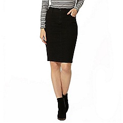 Dorothy Perkins - Black denim pencil skirt
