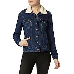 Dorothy Perkins - Indigo borg collar denim jacket