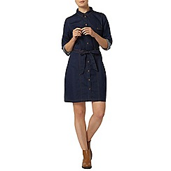 Dorothy Perkins - Tie waist denim shirt dress
