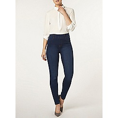 Dorothy Perkins - Mid wash high waisted eden jeggings