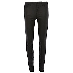 Dorothy Perkins - Tall black coated bailey jeans