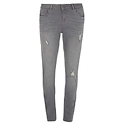 Dorothy Perkins - Tall grey 'casey' relaxed skinny jeans