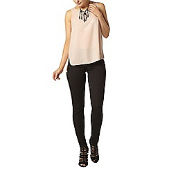 Dorothy Perkins - Black glitter 'frankie' ultra skinny jeggings