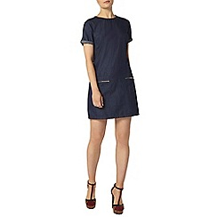Dorothy Perkins - Indog denim zip tunic dress
