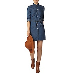 Dorothy Perkins - Midwash denim shirt dress