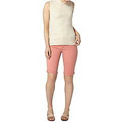 Dorothy Perkins - Coral denim knee shorts