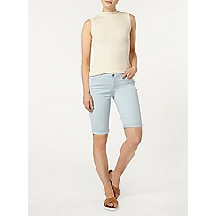 Dorothy Perkins - Pale blue denim knee short