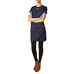 Dorothy Perkins - Tall indigo zip denim tunic