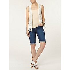 Dorothy Perkins - Midwash denim abrasion short