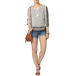 Dorothy Perkins - Midwash denim boy shorts