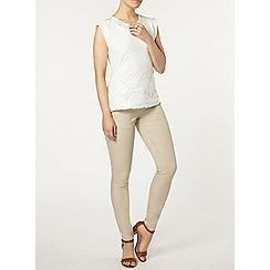 Dorothy Perkins - Stone utility pocket skinny jeans