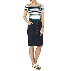 Dorothy Perkins - Button through denim skirt