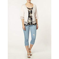 Dorothy Perkins - Lightwash 'harper' crop jeans