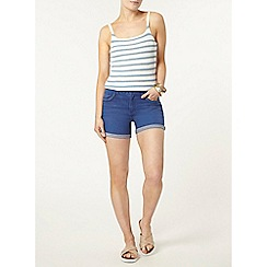 Dorothy Perkins - Bright blue denim plait short