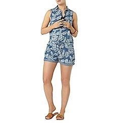 Dorothy Perkins - Printed sleeveless denim playsuit