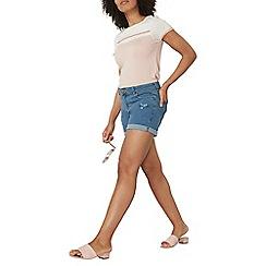 Dorothy Perkins - Midwash abrasion shorts