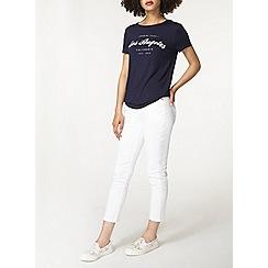 Dorothy Perkins - White straight leg jeans
