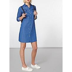 Dorothy Perkins - Bright blue denim shirt dress