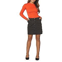 Dorothy Perkins - Tall wash black denim skirt